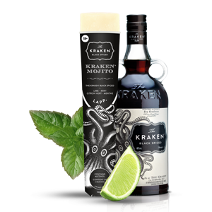 Kraken® Mojito 4,5% alc./vol. The Kraken® Black Spiced, Citron vert, Menthe